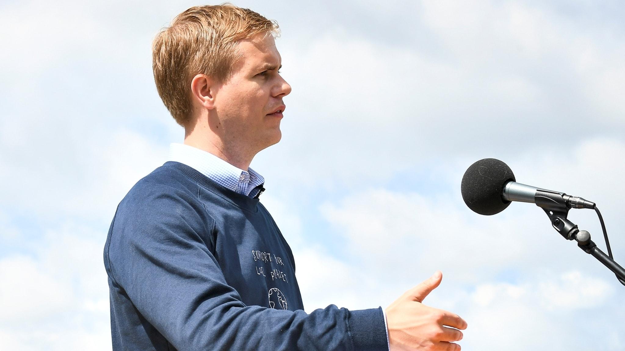Gustav Fridolin (MP) talar i Almedalen 2017