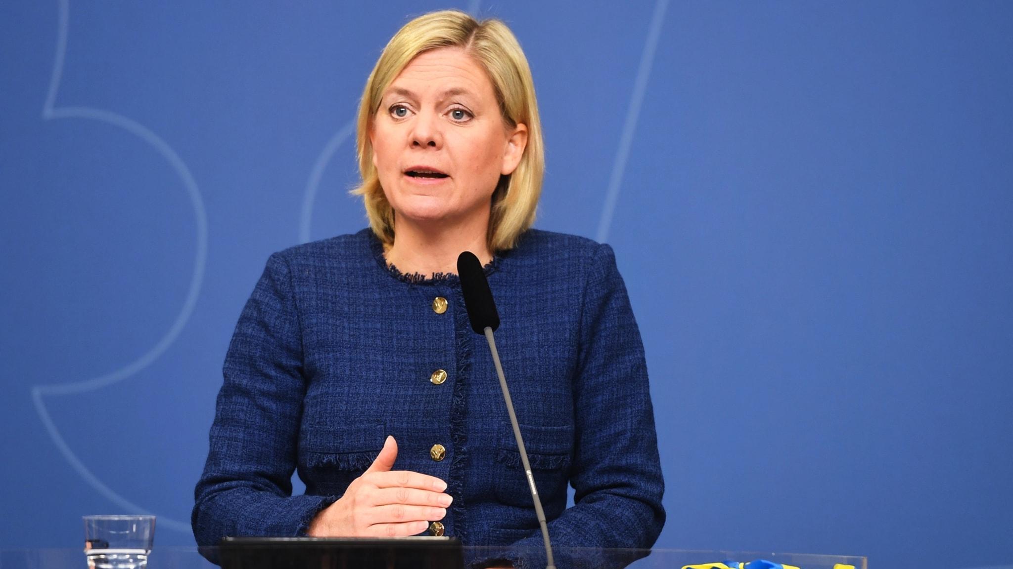Magdalena Andersson (S) talar i Almedalen 2017