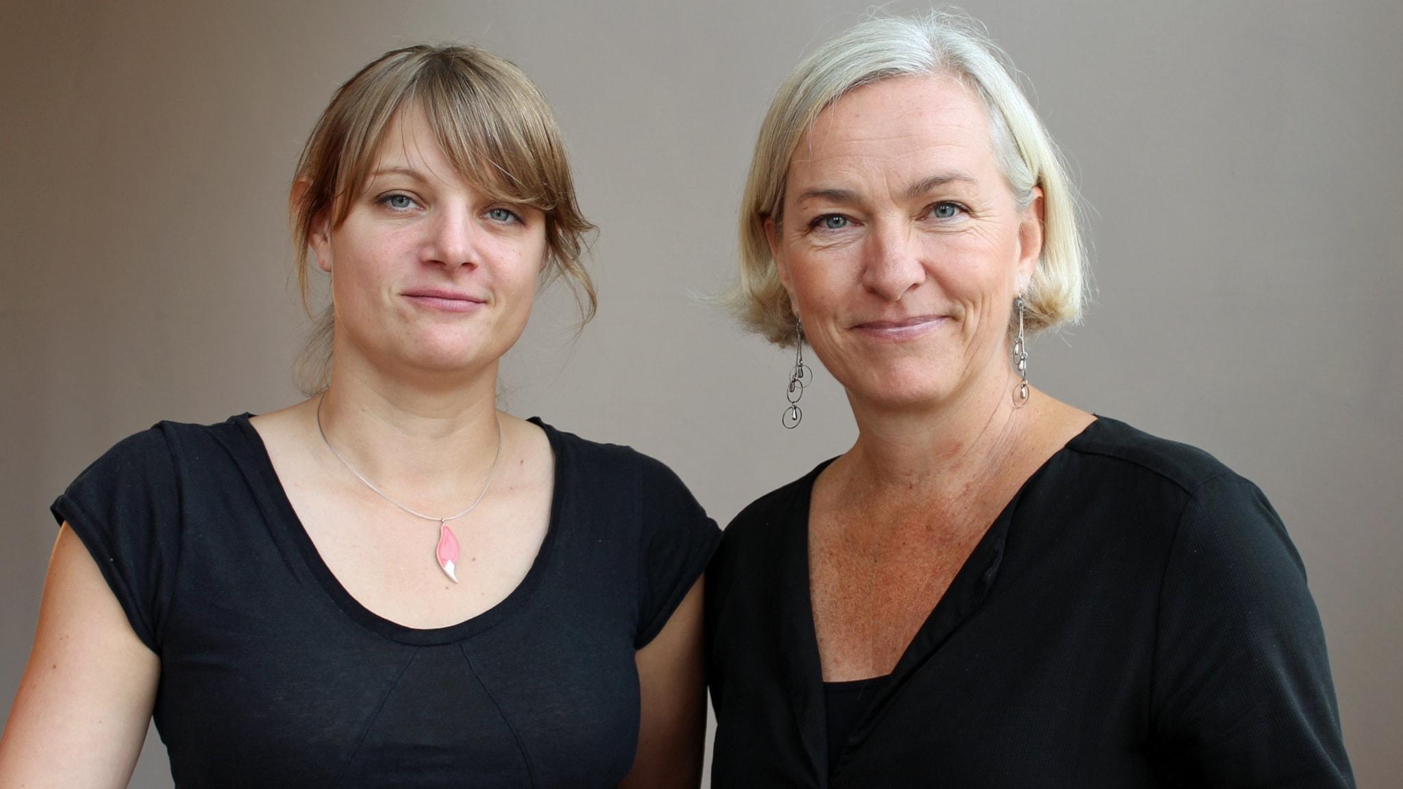 Med Åsa Wistedt och Johanna Hermann Lundberg