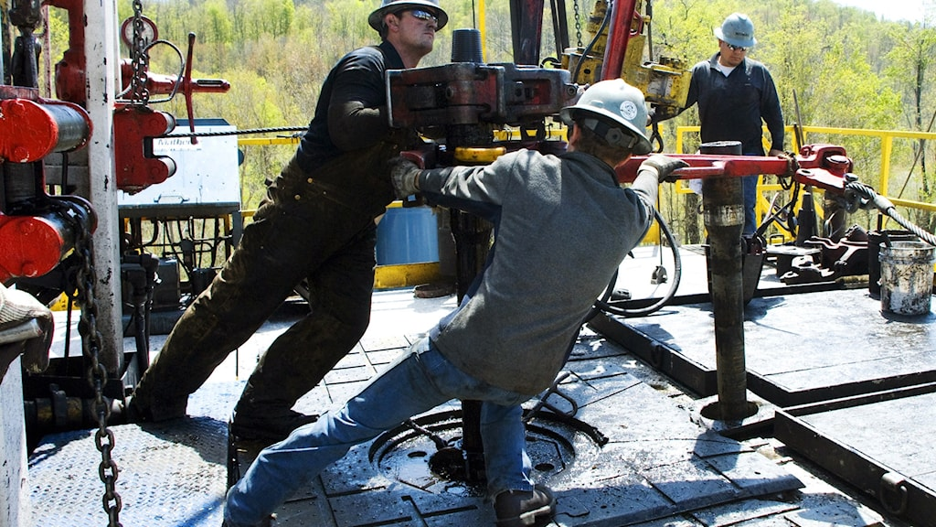 Arbetare vid frackning