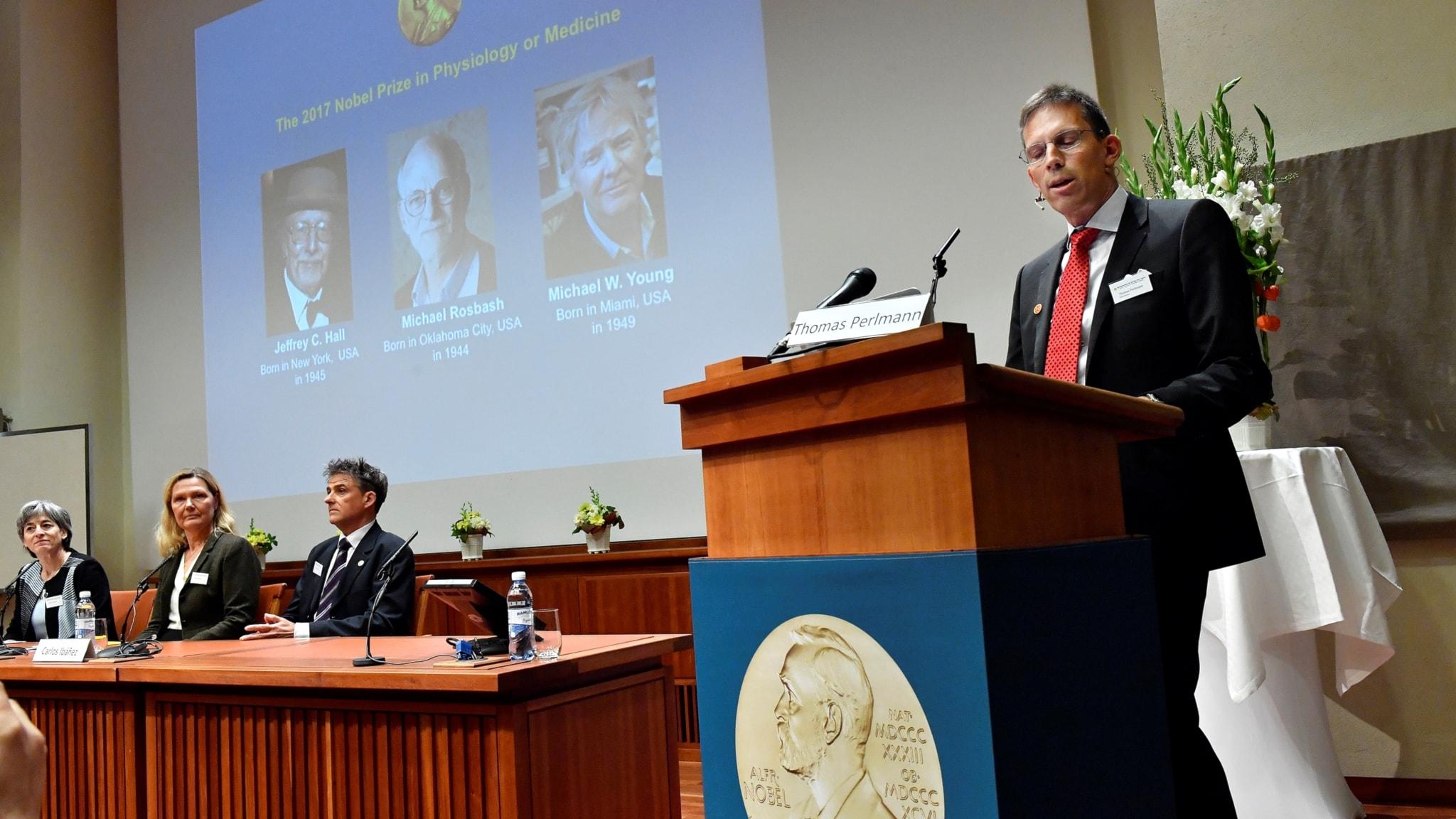 Nobelpriset i medicin för mekanismerna bakom den biologiska klockan