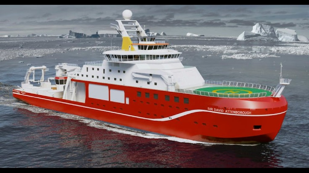 RRS Sir David Attenborough som inte fick heta Boaty McBoatface.
