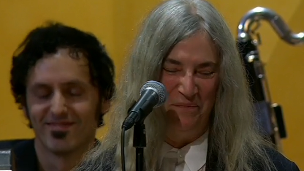 "Patti Smith: ""I´m sorry, I am so nervous."""