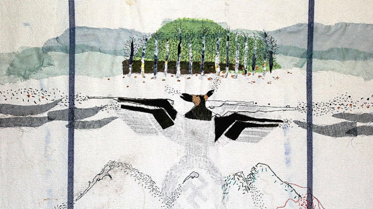Vassa stygn – samiska konstnären Britta Marakatt Labba broderar samtidskritik