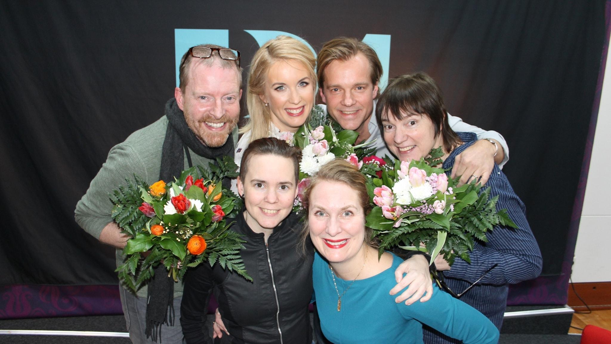 Lotta Bromé, Martin Svenningsen, Jenny Strömstedt och Henrik Johnsson i Lantzkampen!
