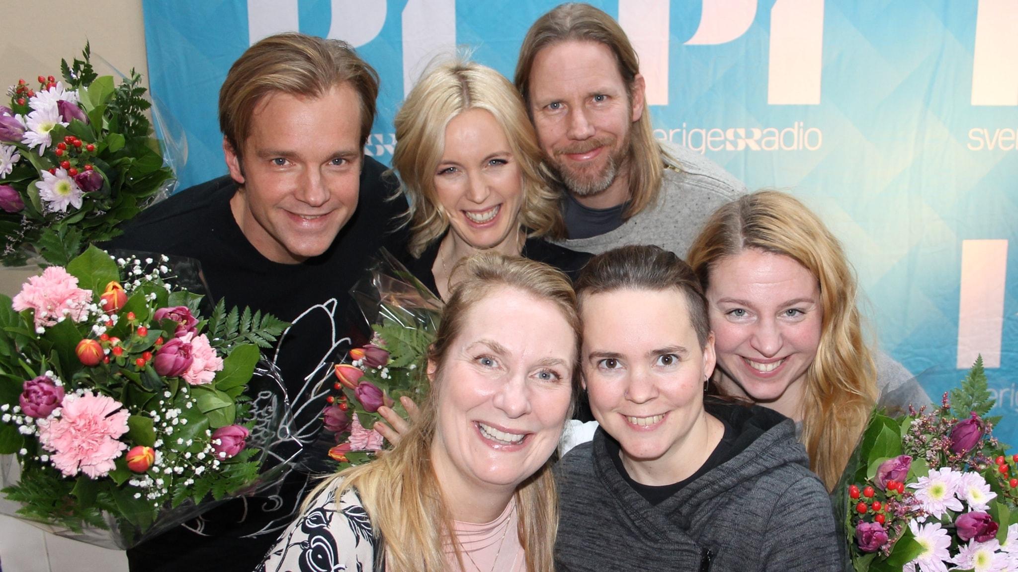 Jenny Strömstedt, Henrik Johnsson, Isobel Hadley-Kamptz och Kristoffer Triumf!