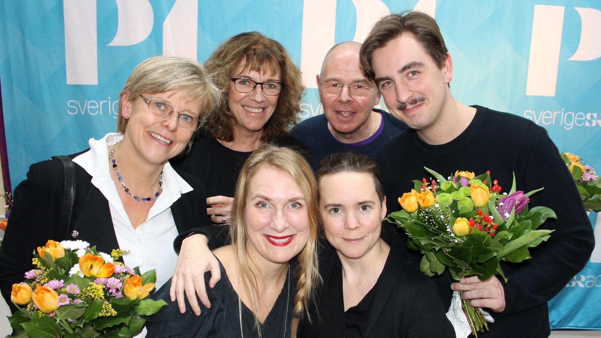 Margit Silbersten, Willy Silberstein, Jack Werner och Ingrid Carlberg!