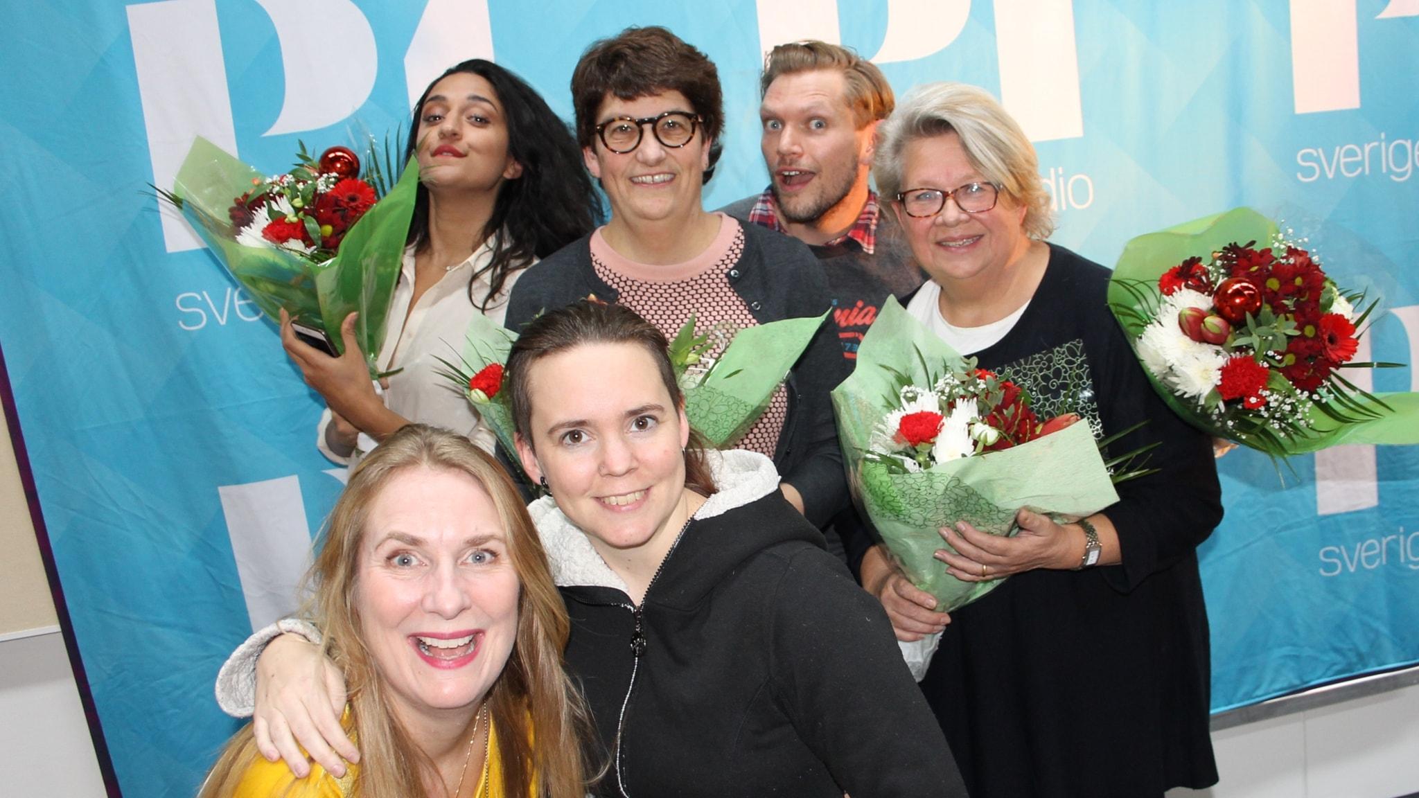 Parisa Amiri, Henrik Torehammar, Helle Klein och Karin Lennmor!