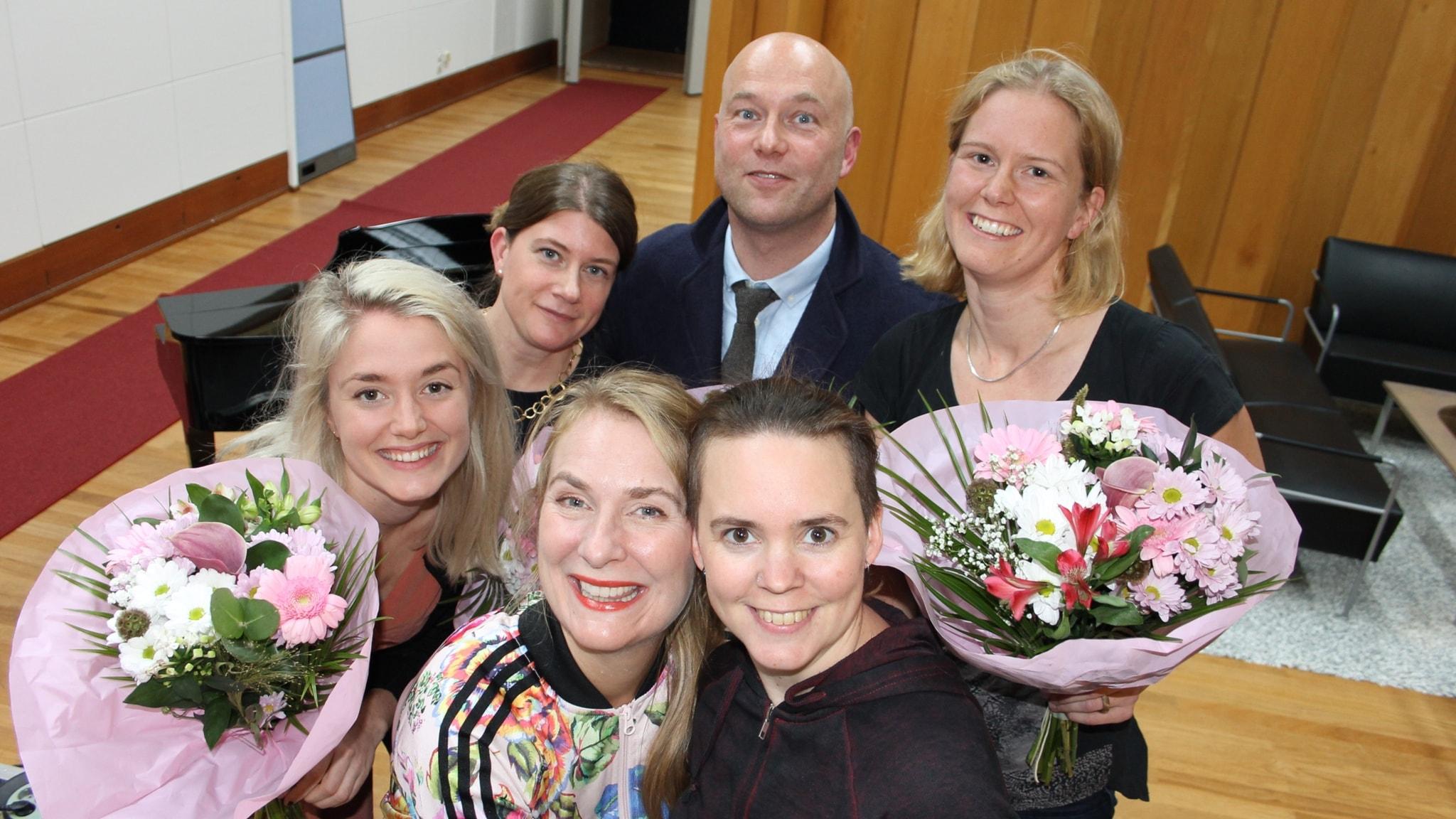 Maja Reichard, Amanda Lindholm, Ellen Lamm och Calle Marthin!