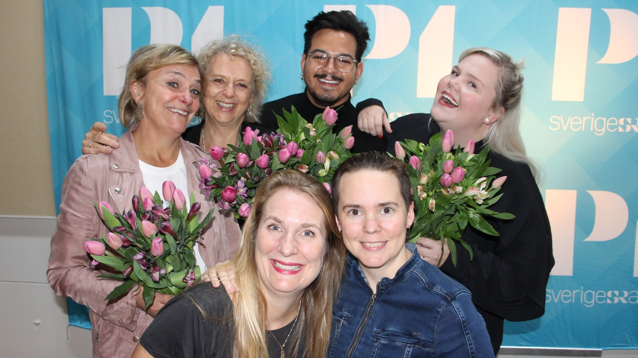 Linnea Wikblad, Alex Letic, Eva Hamilton och Eva Landahl!