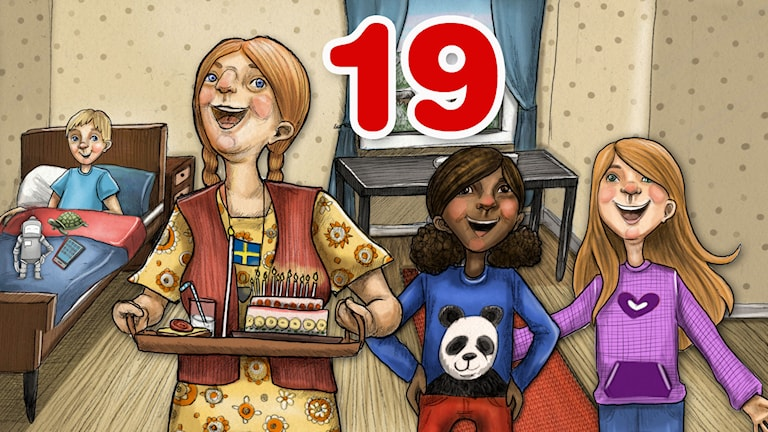 Julkalender 2014. High Tower AVSNITT 19.Illustratör: Anna Westin/SVeriges Radio AB