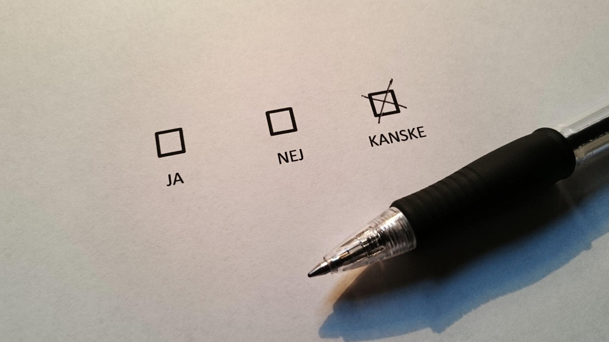 Om svenska folkomröstningar - spela