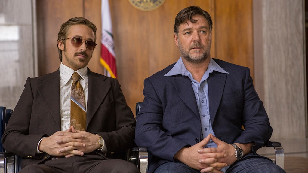 "Ryan Gosling och Russell Crowe i ""The nice guys""."