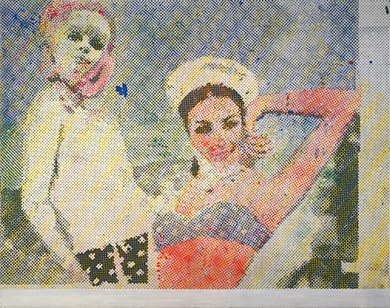 Sigmar Polke: Girlfriends 1965-66. Foto: Tate Modern.