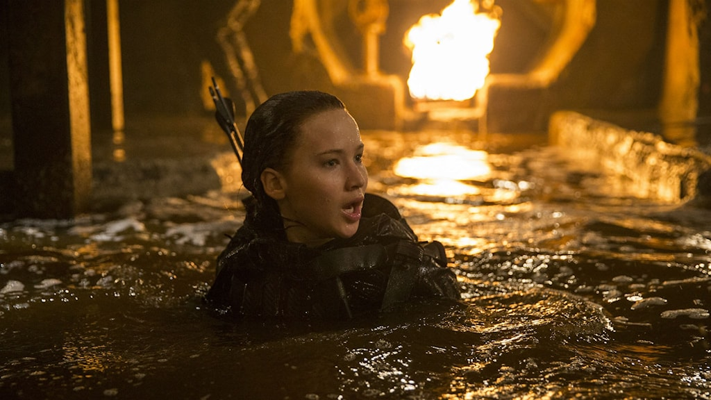 Jennifer Lawrence som Katniss Everdeen. Bild: Nordisk film