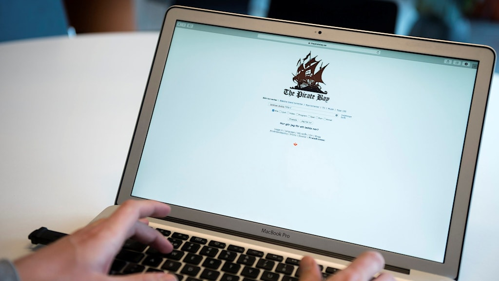 Homepage The Pirate Bay Foto: Wilhelm Stokstad/TT