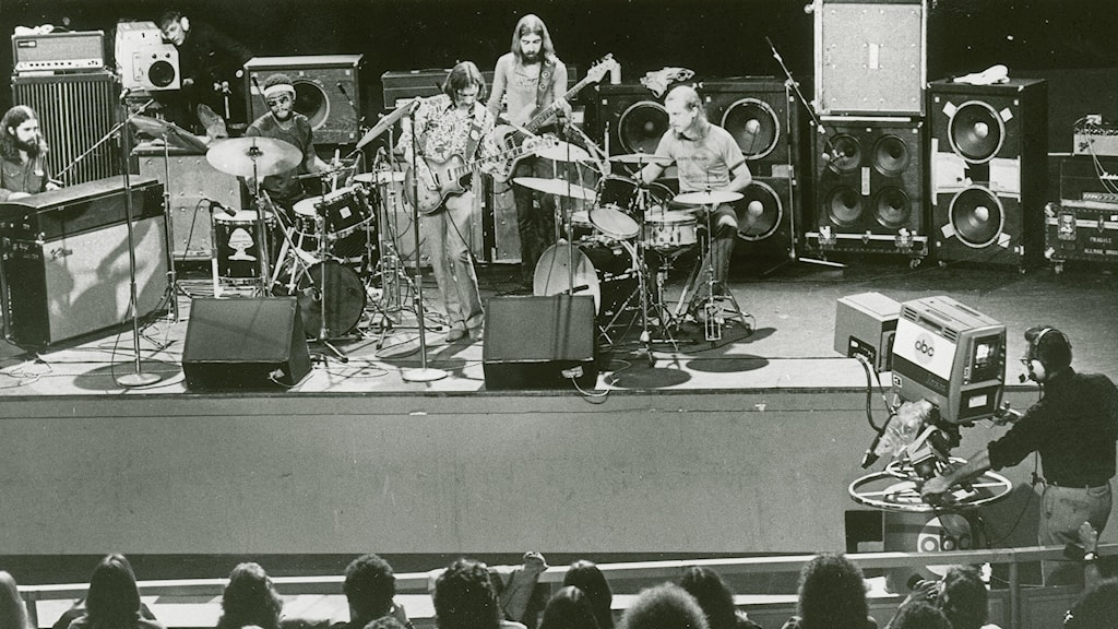 The Allman Brothers Band uppträder 1972.