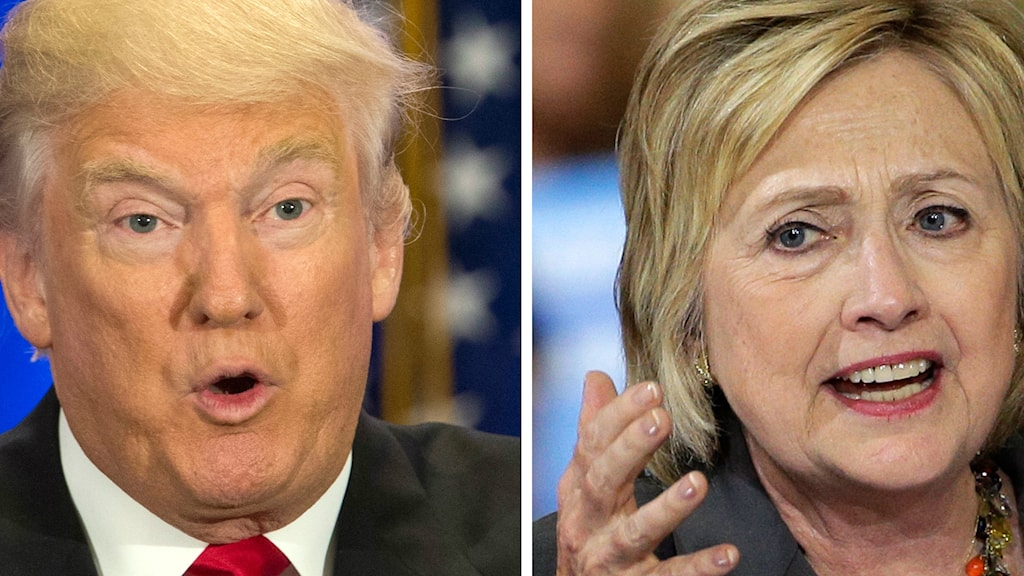 Donald Trump och Hillary Clinton
