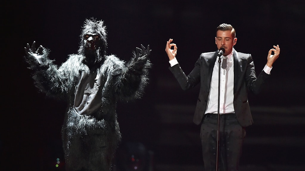 Francesco Gabbani under Eurovision Song Contest.