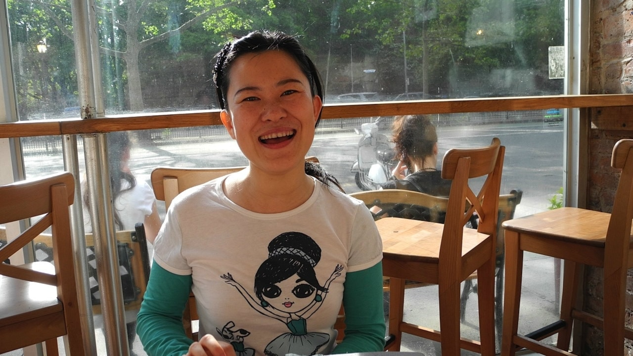 New York! - Zhou Long, 2011 års Pulitzerpristagare i musik,  och tonsättaren Xinyan Li.