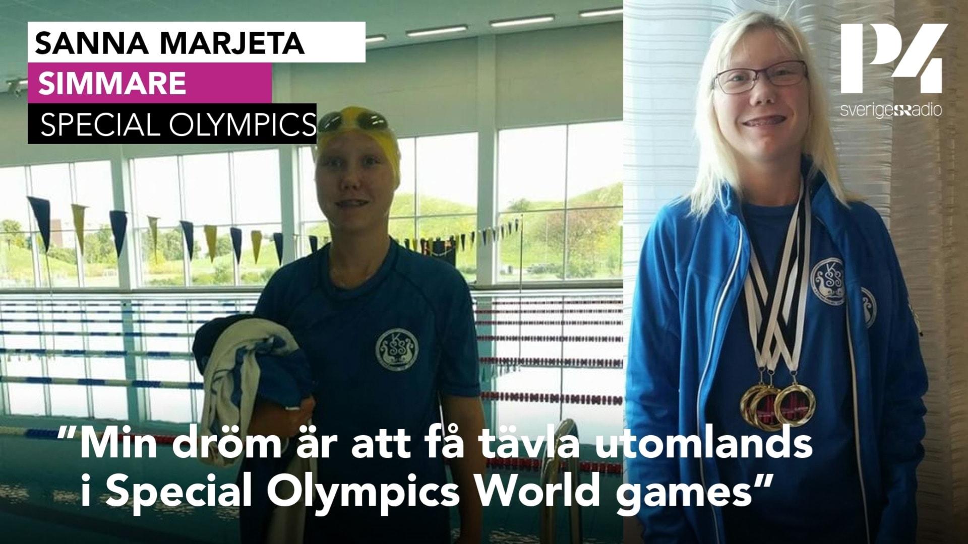 Nu är det klart att Sanna Marjeta ska simma i Special Olympics Games