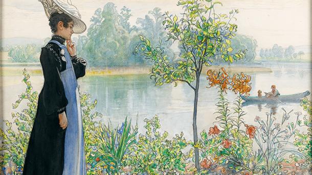 Karin Larsson och trädgården
