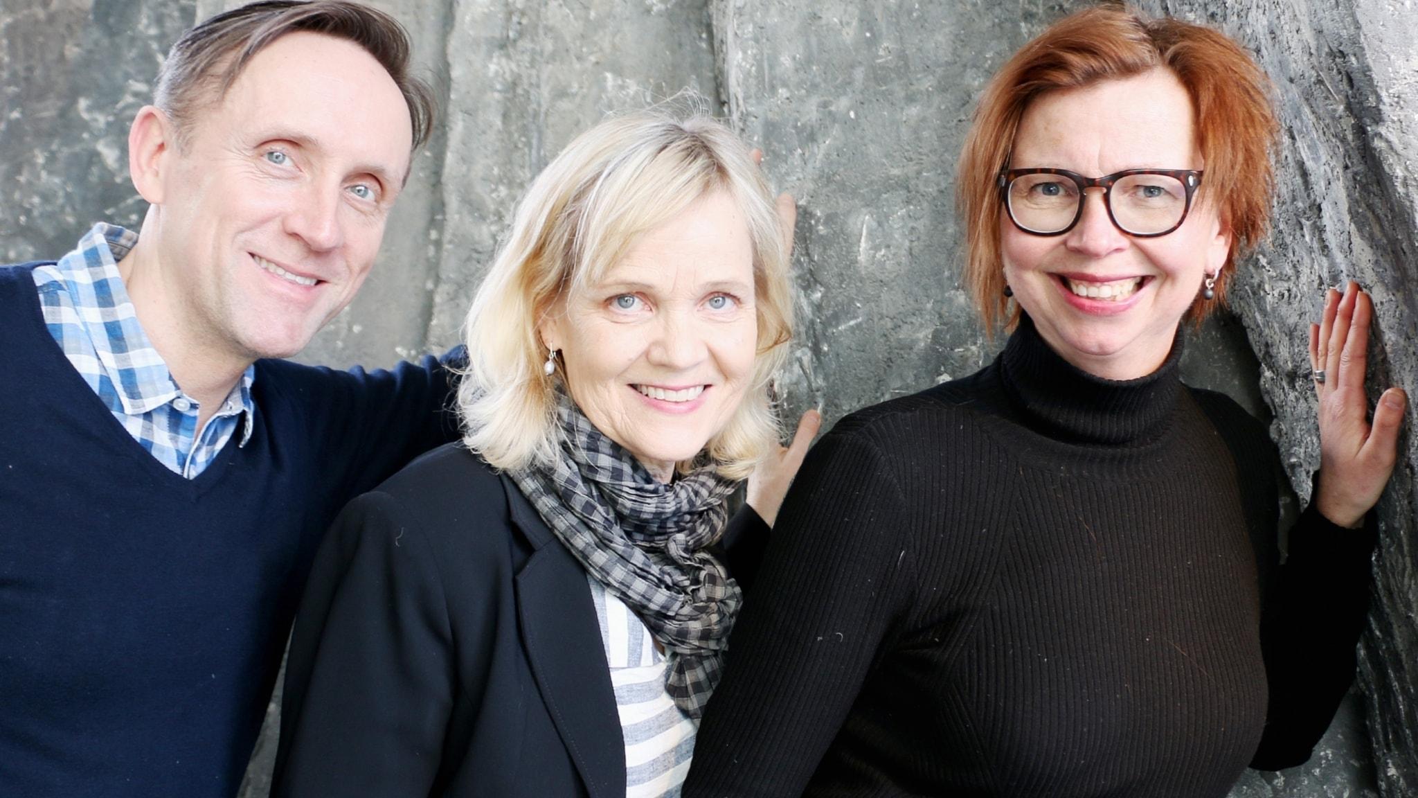 Gabriella Ahlström, Göran Everdahl och Maja Aase