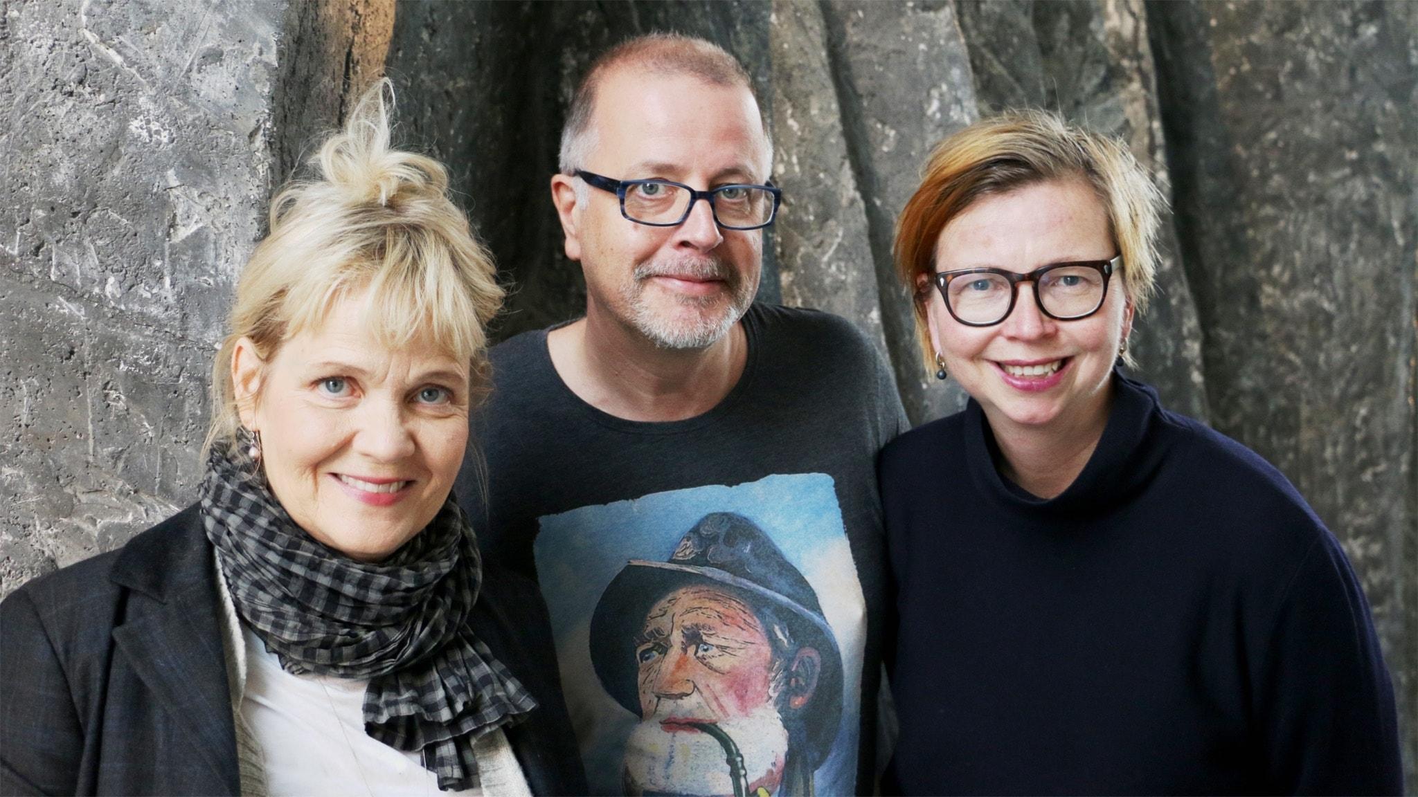 Gabriella Ahlström, Jonathan Lindström och Maja Aase