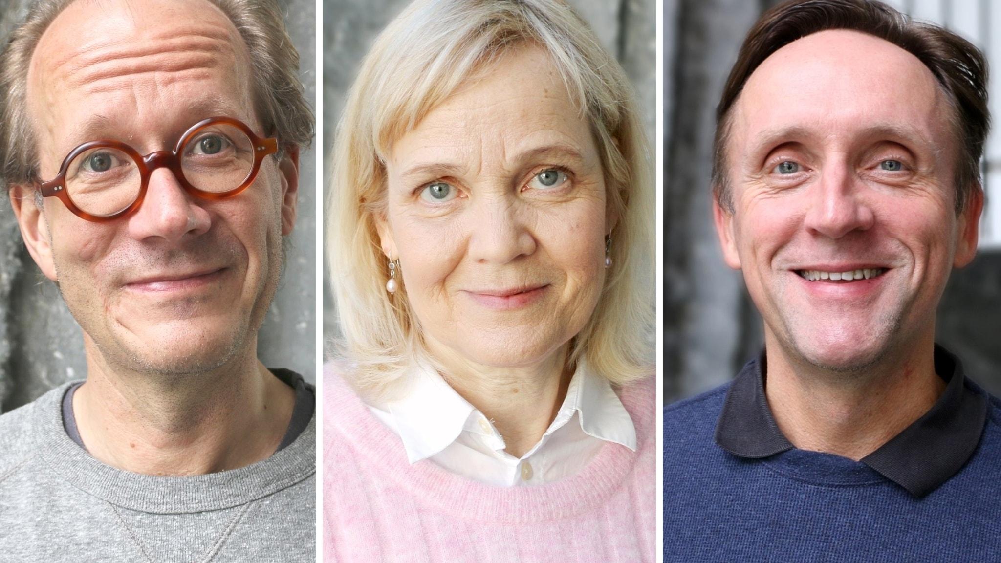 Johan Hakelius, Gabriella Ahlström och Göran Everdahl
