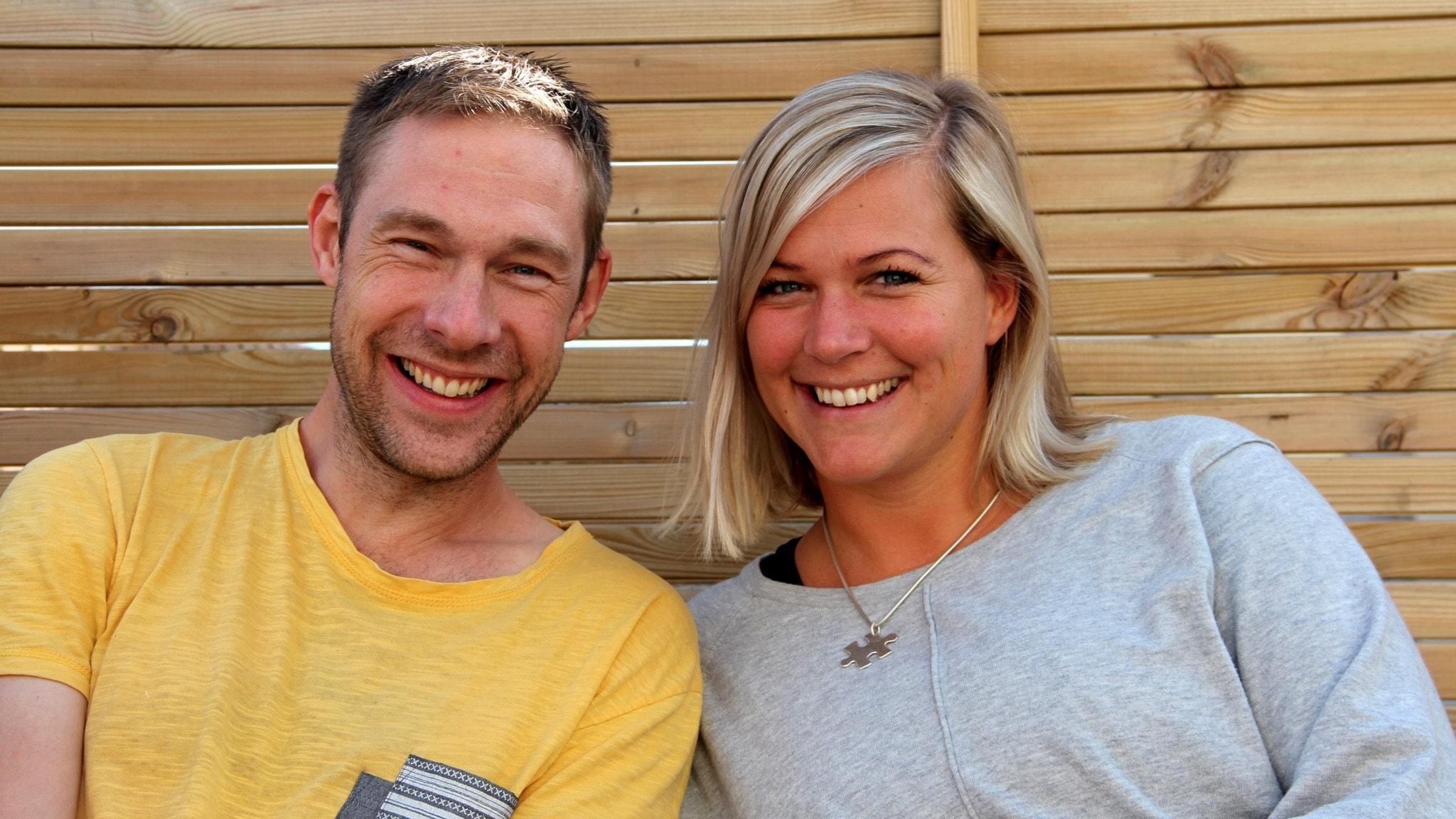 Med Rebecka Gyllin och Daniel Kjellander