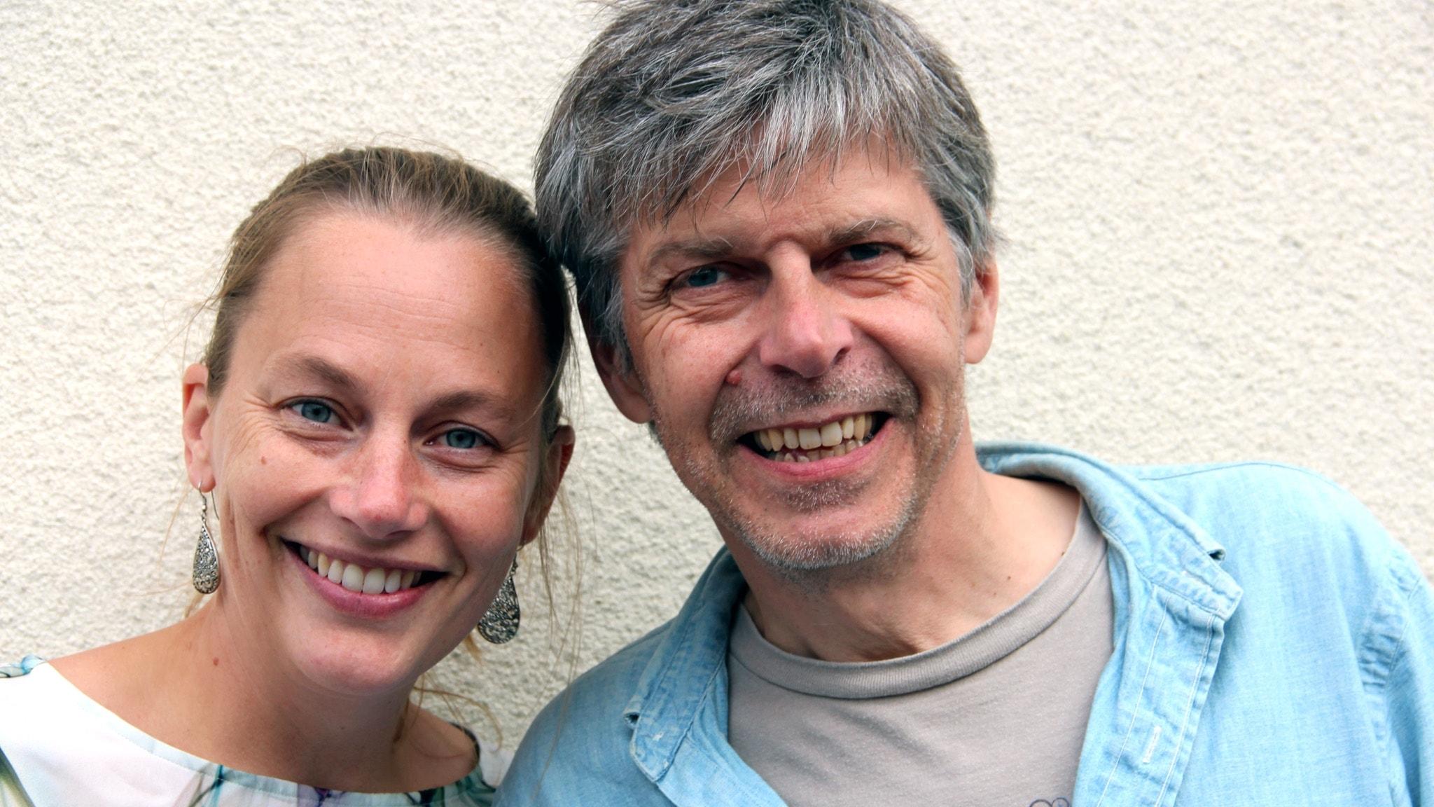 Med Patrik Franke och Anette Eriksson