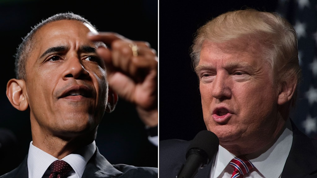 Barack Obama och Donald Trump.