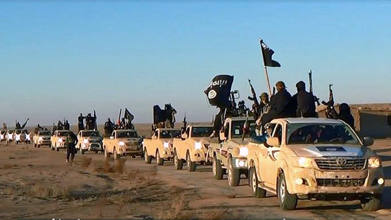 Isis i Irak. Foto: AP Photo / militant website, File / TT.