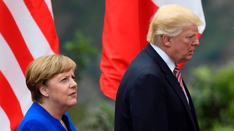 Angela Merkel & Donald Trump