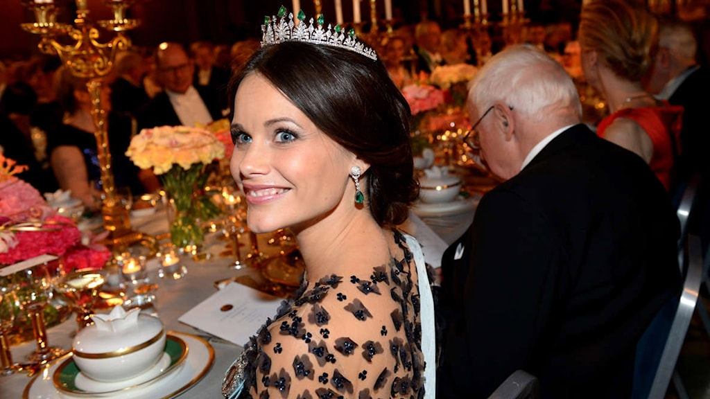 Sweden's Sofia Hellqvist at the Nobel table:Photo/TT