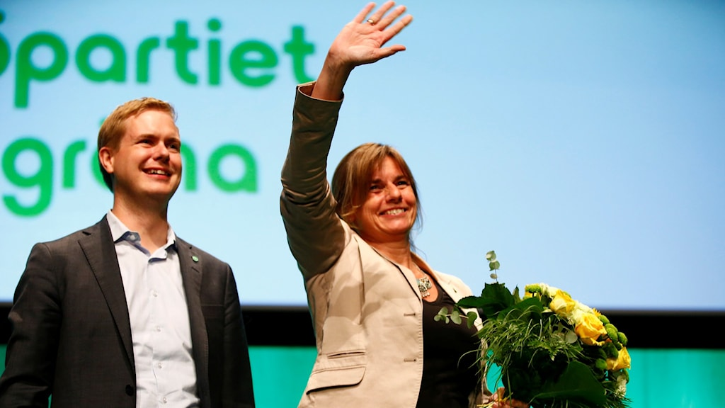 Newly elected leaders of the Green Party: Gustav Fridolin and Isabella Lövin.