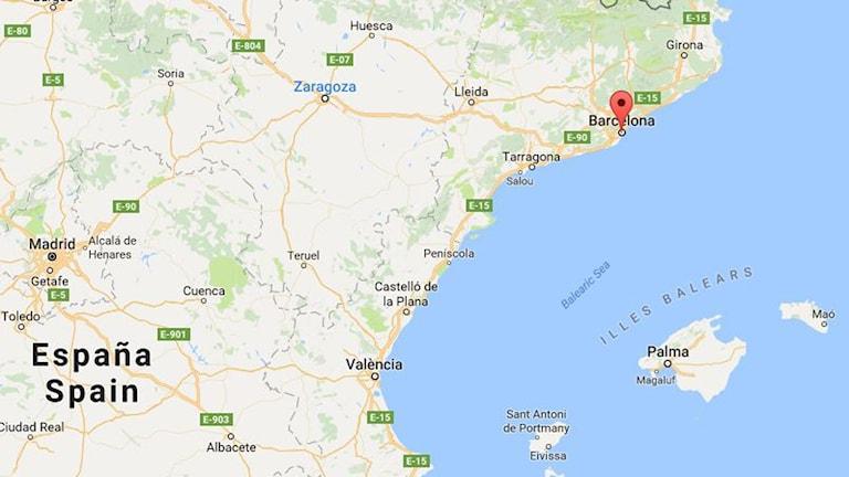 Karta Over Sevardheter I Barcelona.Barcelona Karta Karta