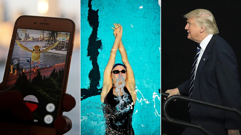 Pokemon Go, Sarah Sjöström, Donald Trump.