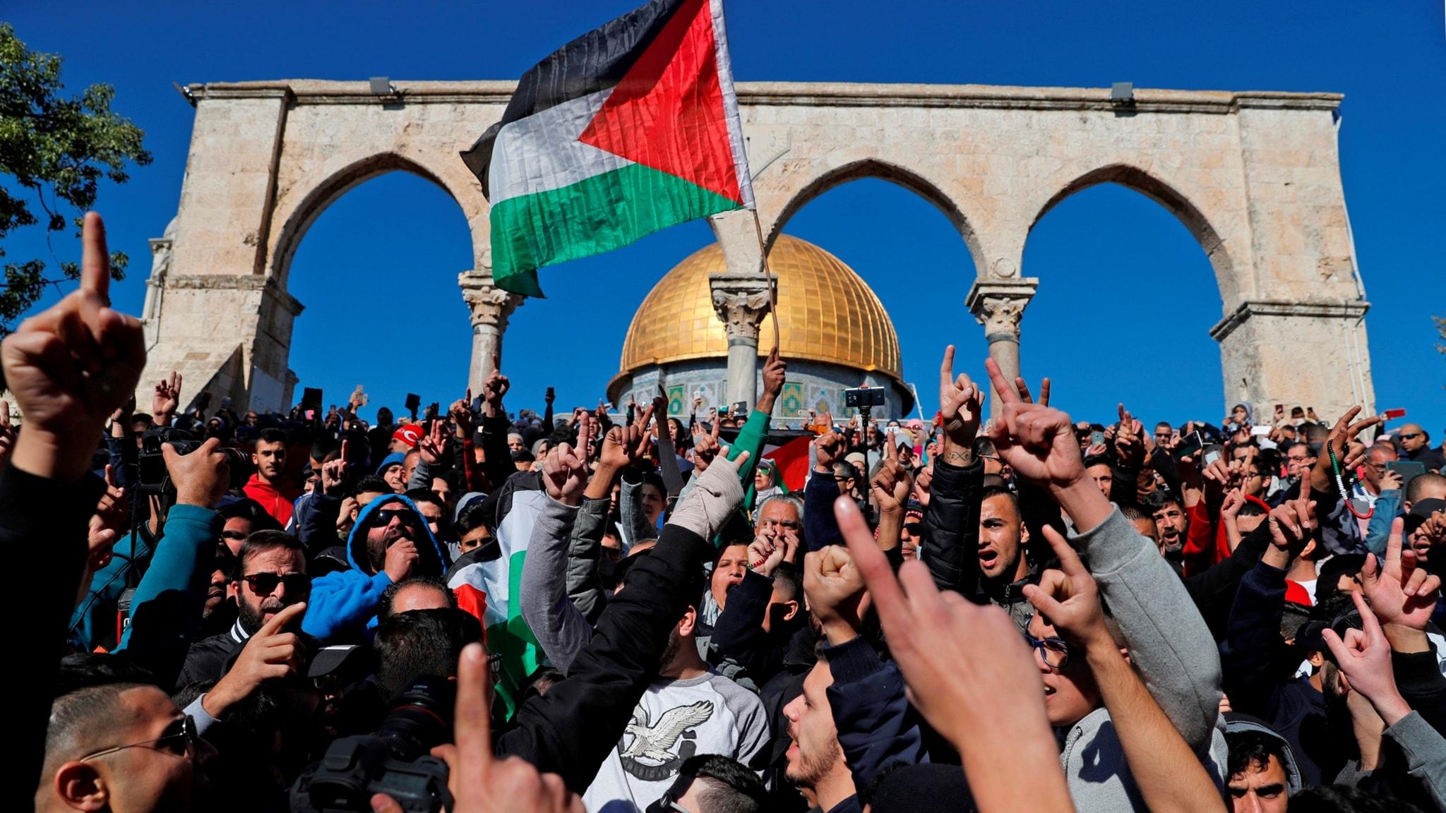 Fortsatt oroligt efter Trumps besked om Israel