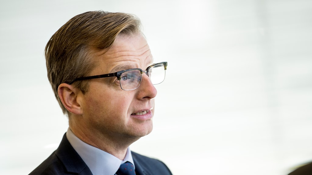 Sweden's minister for business, Mikael Damberg, against a white background