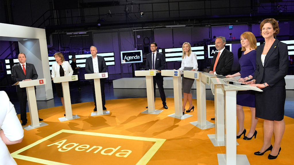 Bildresultat för partiledardebatt