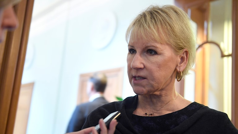 Margot Wallström (Social Democrat) is the minister for foreign affairs.