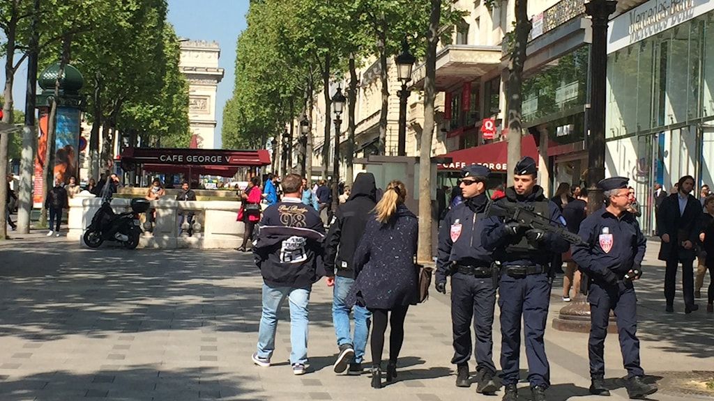 Champs Elysees dagen efter attacken