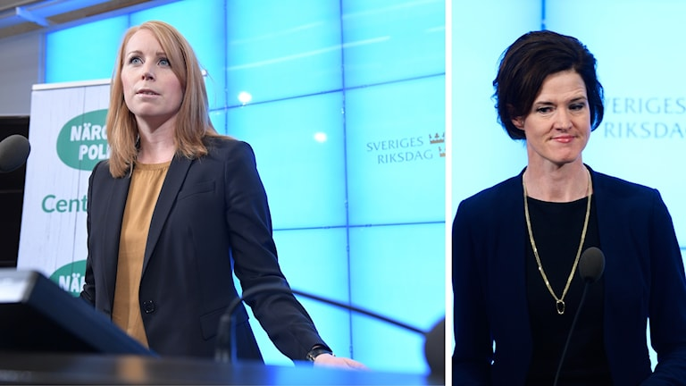 Annie Lööf and Anna Kinberg Batra are at odds over whether to work with a populist party
