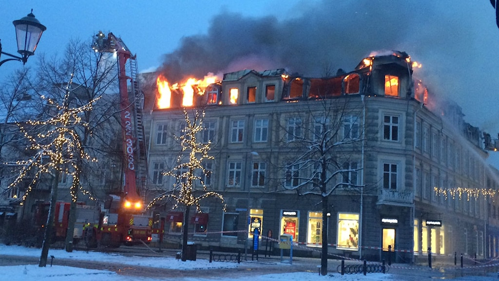 A five-story apartment building in downtown Arvika. Photo: Jenny Tibblin / Sveriges Radio.