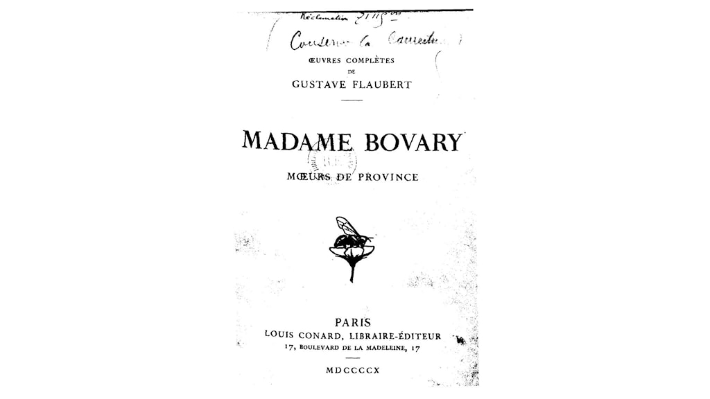 Madame Bovary, roman de Gustave Flaubert, 1857. Edition des oeuvres complètes, librairie Louis Conard, 1910 (Bild: Wikimedia Commons)