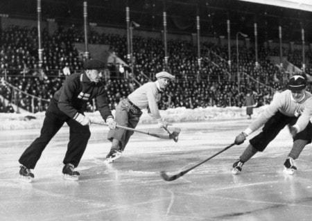 Ruotsi/Suomi jääpalloa 1938