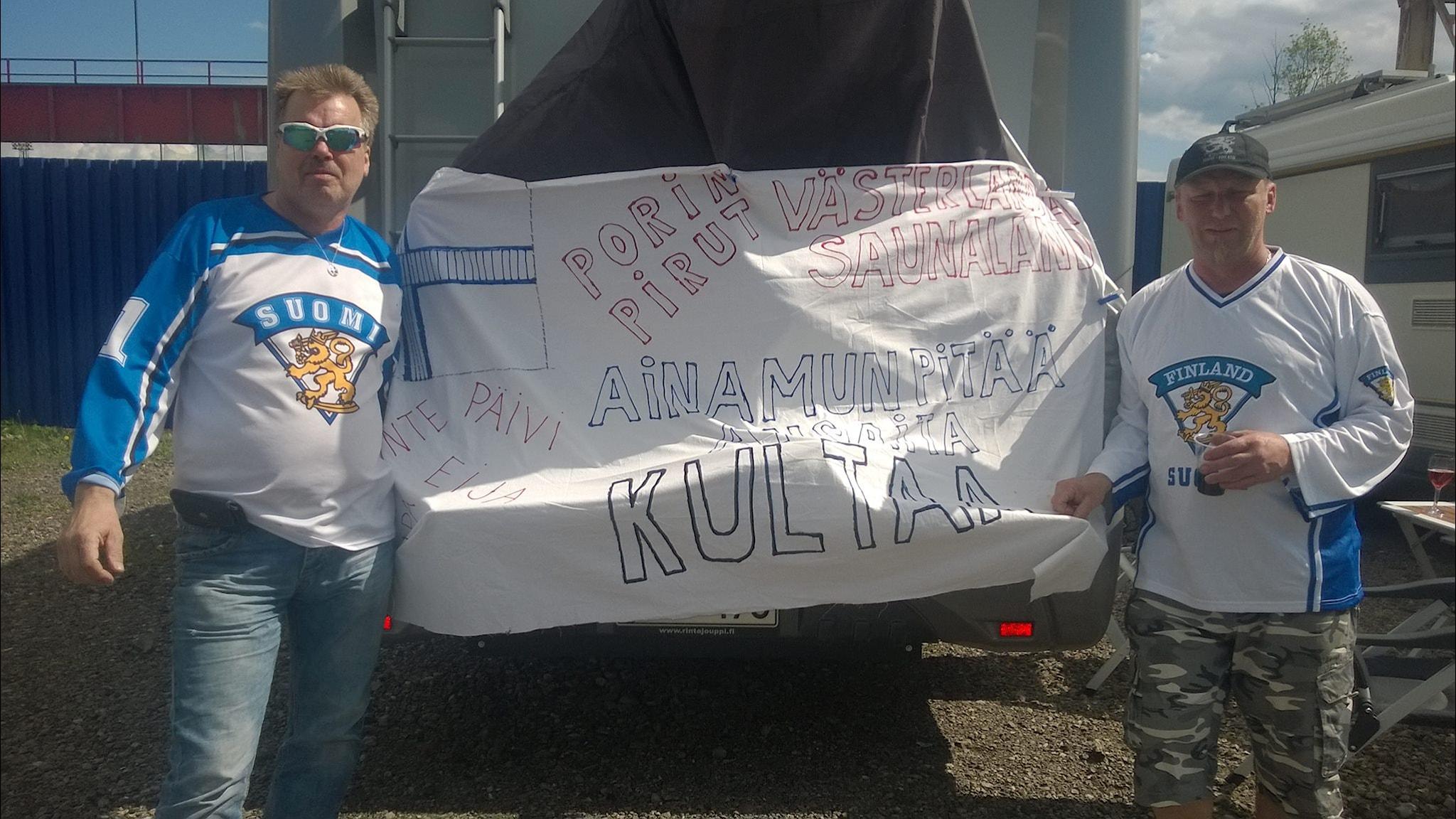 Harri Mattila ja Jouni Jaloma MM-kisoissa.Kuva: Eija Mattila