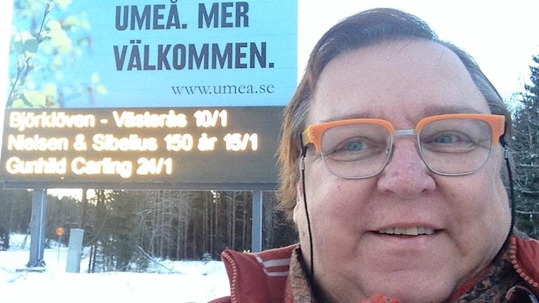 Erpo Heinolainen Uumajassa.