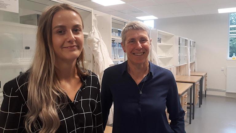 Ida Ivarsson, elev, och Åsa Persson, rektor på Perstorps tekniska gymnasium
